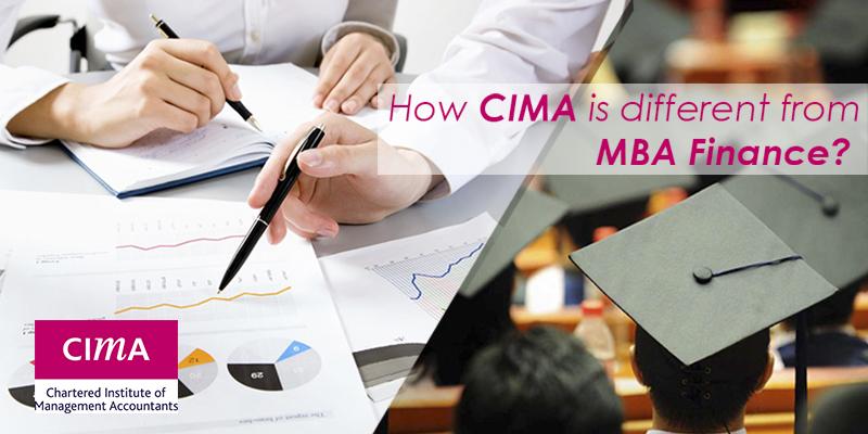 CIMA Qualification Vs MBA Finance