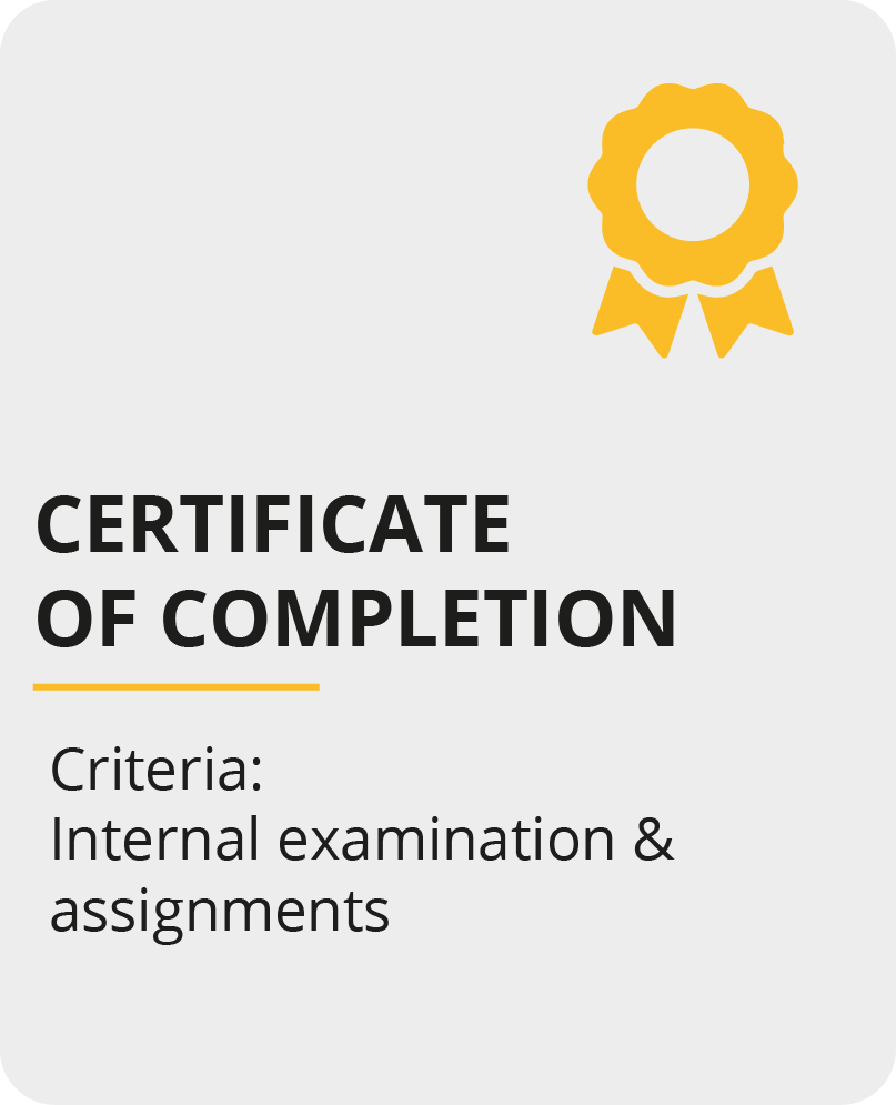 Certification of Completion